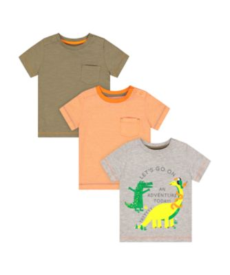 Mothercare Go Croco Short Sleeve T-Shirt - 3 Pack