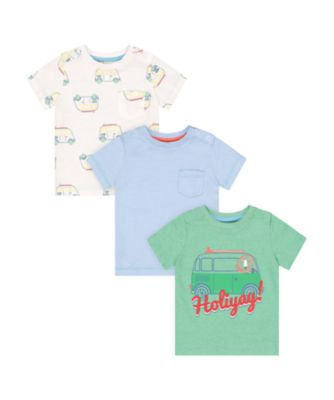 Mothercare Desert Vibes Holiyay! Short Sleeve T-Shirts - 3 Pack
