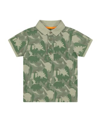 Mothercare Go Croco Dinosaur Camo Short Sleeve Polo Shirt