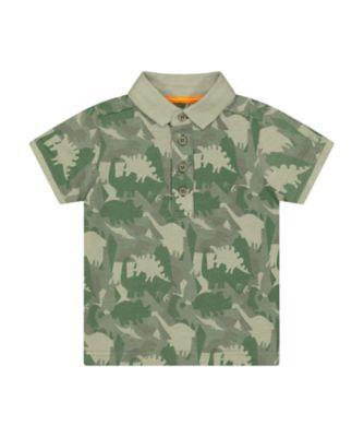 Mothercare Go Croco Dinosaur Camo Short Sleeve Polo Shirt