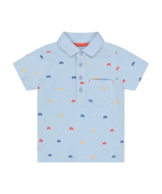 Mothercare Desert Vibes Blue Allover Print Polo T-Shirt