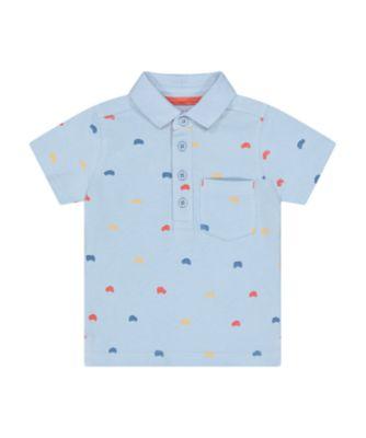 Mothercare Desert Vibes Blue Allover Print Polo T-Shirt