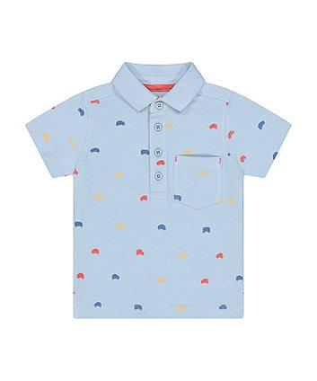 Mothercare Blue Car Polo Shirt