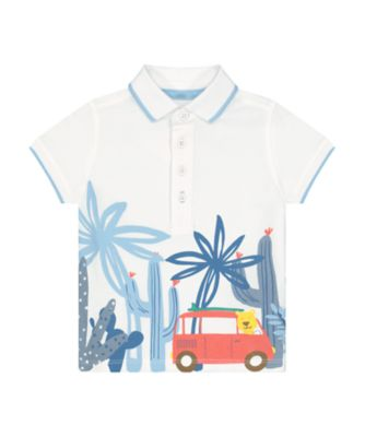 Mothercare Desert Vibes Graphic Short Sleeve Polo Shirt