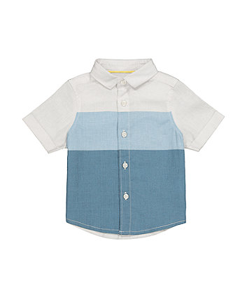 Mothercare Blue Panelled Shirt