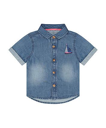 Mothercare Chambray Sail Boat Shirt