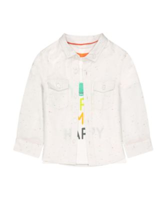 Mothercare Go Croco Nep Long Sleeve Shirt And Tee Set