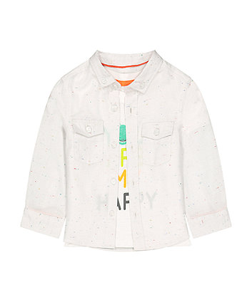 Mothercare Shirt And T-Shirt Set