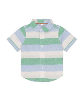 Mothercare Desert Vibes Multi-Stripe Short Sleeve Shirt