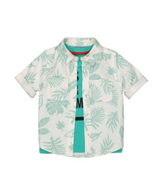Mothercare Beach life Allover Print Short Sleeve Shirt And T-Shirt