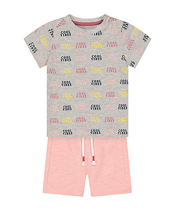 Mothercare Cool Vibes T-Shirt And Shorts Set