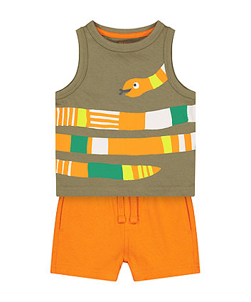 Mothercare Snake Vest T-Shirt And Shorts Set