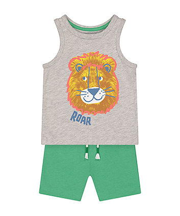 Mothercare Lion Vest T-Shirt And Shorts Set