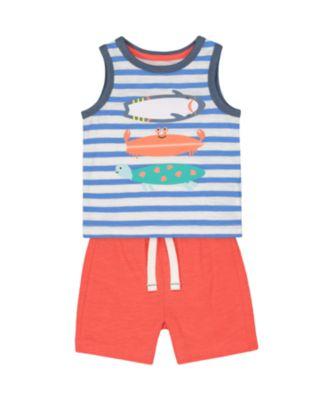 Mothercare Beach Life Crab Vest Promo Set