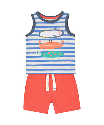 Mothercare Crab Vest And Shorts Set