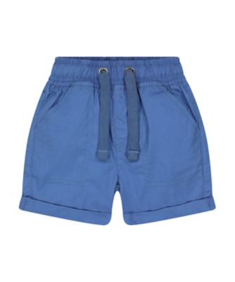 Mothercare Navy Pop Blue Poplin Shorts
