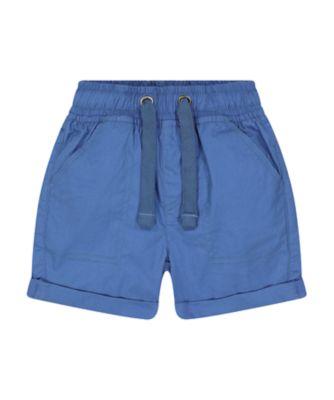 Mothercare Navy Pop Blue Poplin Shorts