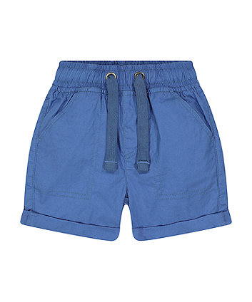 Mothercare Fashion Blue Poplin Shorts