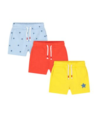 Mothercare Navy Pop Star Shorts - 3 Pack