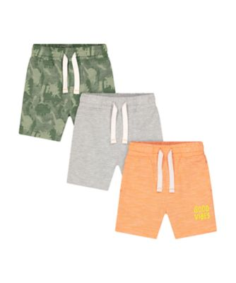 Mothercare Go Croco Good Vibes Shorts - 3 Pack