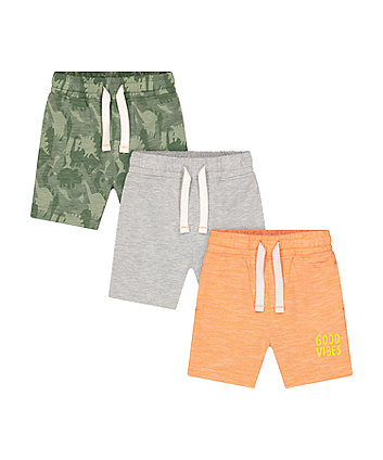 Mothercare Good Vibes Shorts - 3 Pack