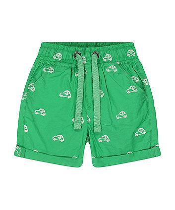 Mothercare Green Car Poplin Shorts