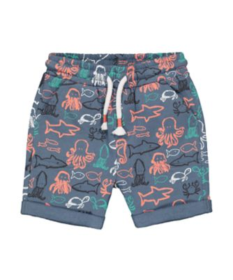Mothercare Beach Life Navy Allover Print Shorts