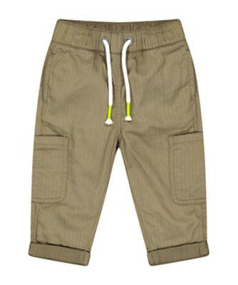 Mothercare Go Croco Khaki Cargo Pocket Trousers