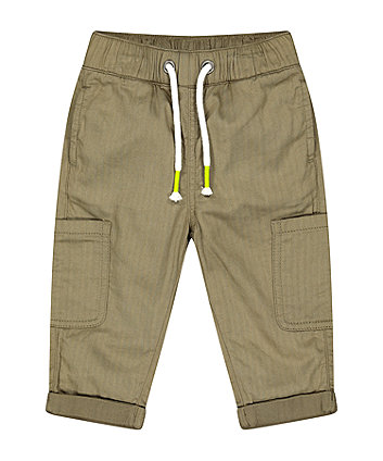 Mothercare Fashion Khaki Cargo Trousers