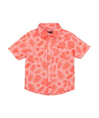Mothercare Beachlife Pink Allover Palm Short Sleeve Shirt