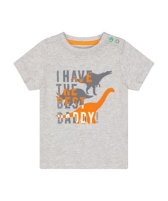 Mothercare Go Croco Grey Dinosaur Daddy Short Sleeve T-Shirt