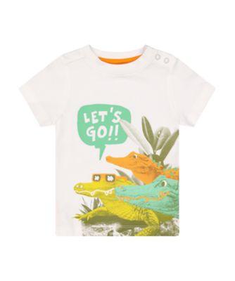 Mothercare Go Croco Let'S Go Crocodile Short Sleeve T-Shirt