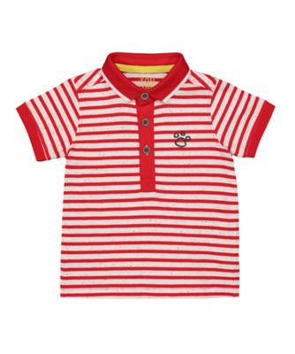 Mothercare Pandastic Stripe Polo Short Sleeve Shirt