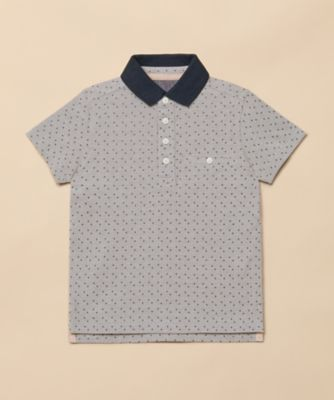 Mothercare Special Collection AW Grey Dotty Polo Short Sleeve T-Shirt