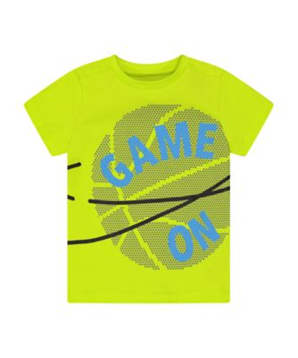 Mothercare Sport Pop Lime Game On Short Sleeve T-Shirt