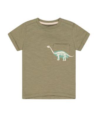 Mothercare Easy Vibes Khaki Dinosaur Short Sleeve T-Shirt