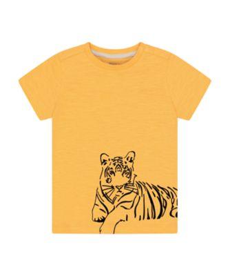 Mothercare Urban Tropics Yellow Tiger Wrap-Around Short Sleeve T-Shirt
