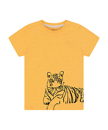 Mothercare Yellow Tiger Wrap-Around T-Shirt