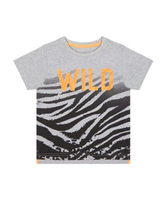 Mothercare Urban Tropics Wild Tiger Print Fade Short Sleeve T-Shirt