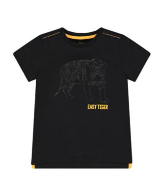 Mothercare Urban Tropics Black Diamond-Sparkle Tiger Short Sleeve T-Shirt