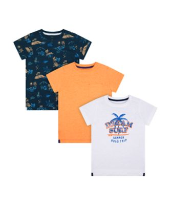 Mothercare Dream Surfer Road Trip Short Sleeve T-Shirts - 3 Pack