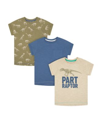Mothercare Easy Vibes Raptor Short Sleeve T-Shirts - 3 Pack