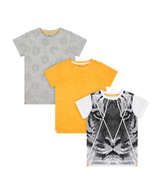 Mothercare Urban Tropics Tiger Short Sleeve T-Shirts - 3 Pack