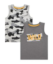 Mothercare Wild Vest T-Shirts - 2 Pack