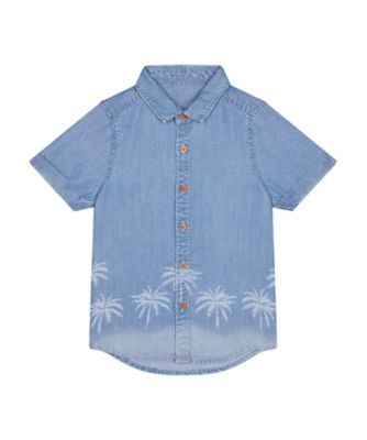 Mothercare Dream Surfer Denim Short Sleeve Shirt with Graphic