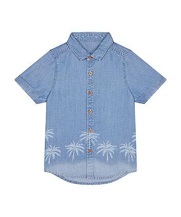 Palm Tree Denim Shirt [SS21]