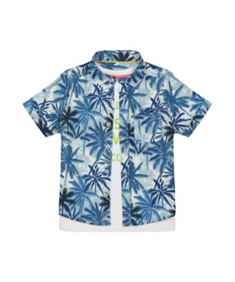 Mothercare Dream Surfer Allover Print Short Sleeve Shirt And T-Shirt Set