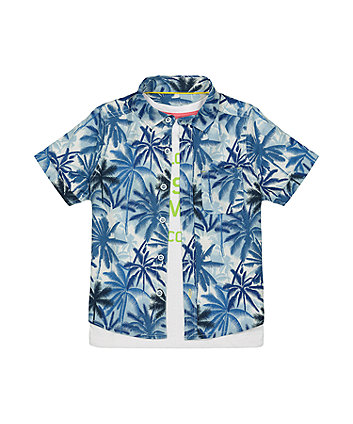 Mothercare Palm Shirt And T-Shirt Set