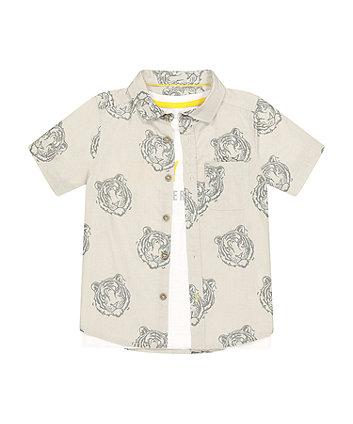 Mothercare Tiger Shirt And T-Shirt Set