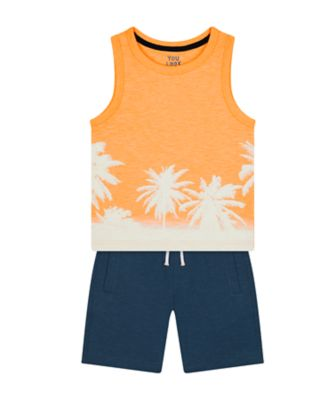 Mothercare Dream Surfer Orange Vest And Short Promo Set